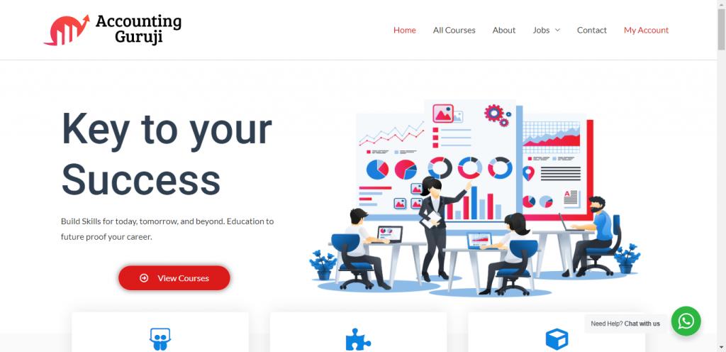 Online Education Website LMS Website Designing Portfolio web development