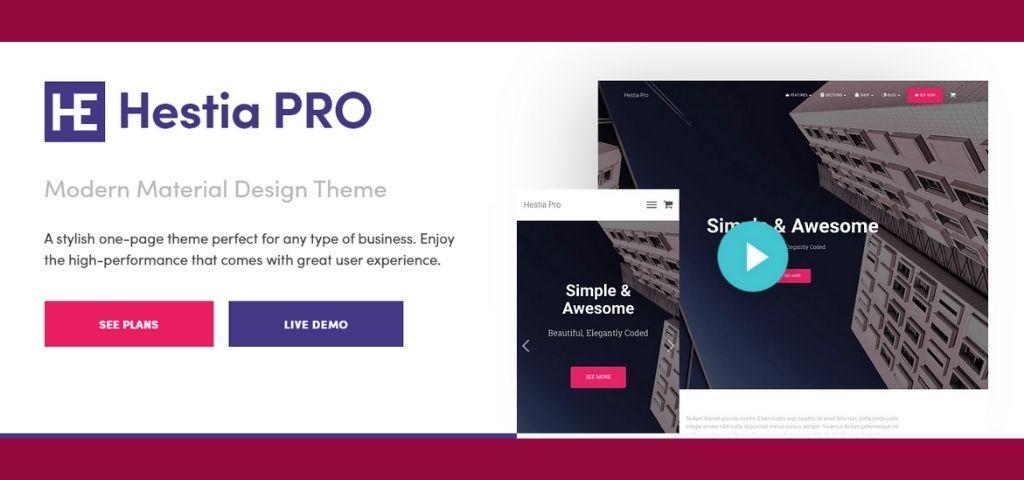 WordPress Hestia Pro